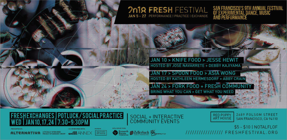 FRESH Exchanges: POTLUCK/Social Practice ft. FRESH Community  Wednesday, January 24 @ 7:30PM