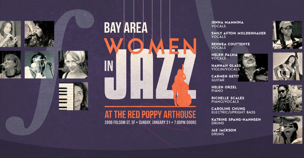 Bay Area Women Musicians: A Sequel to Women in Jazz Sunday, January 21 @ 7:30PM